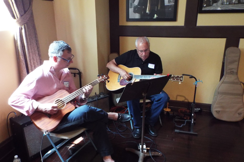 Our talented musicians, Jay Caruso and John Schreiber.