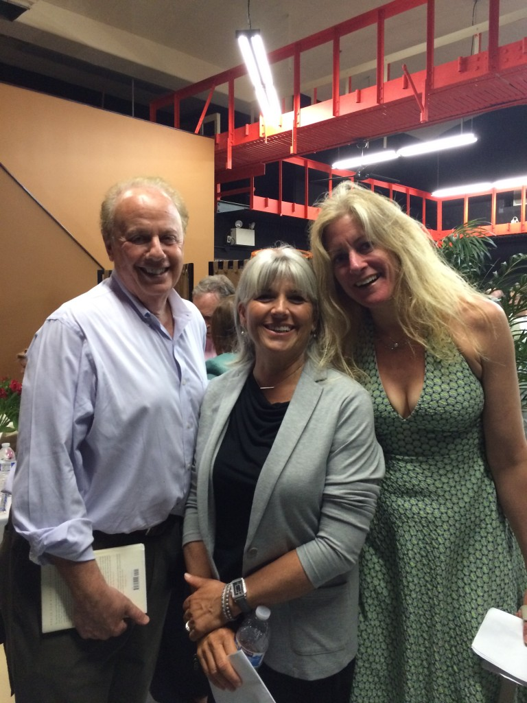 Author Roger Rosenblatt, LitFest Essay Contest Winner Debbie Slevin, and Julie Klam.