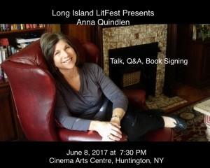 Long Island LitFest Presents Anna Quindlen