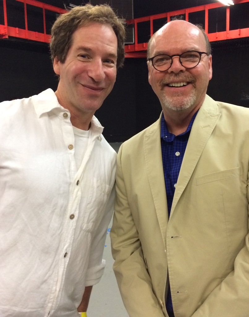 Two funny guys -- Dan Zevin and Barry Dougherty (LitFest emcee and reader).