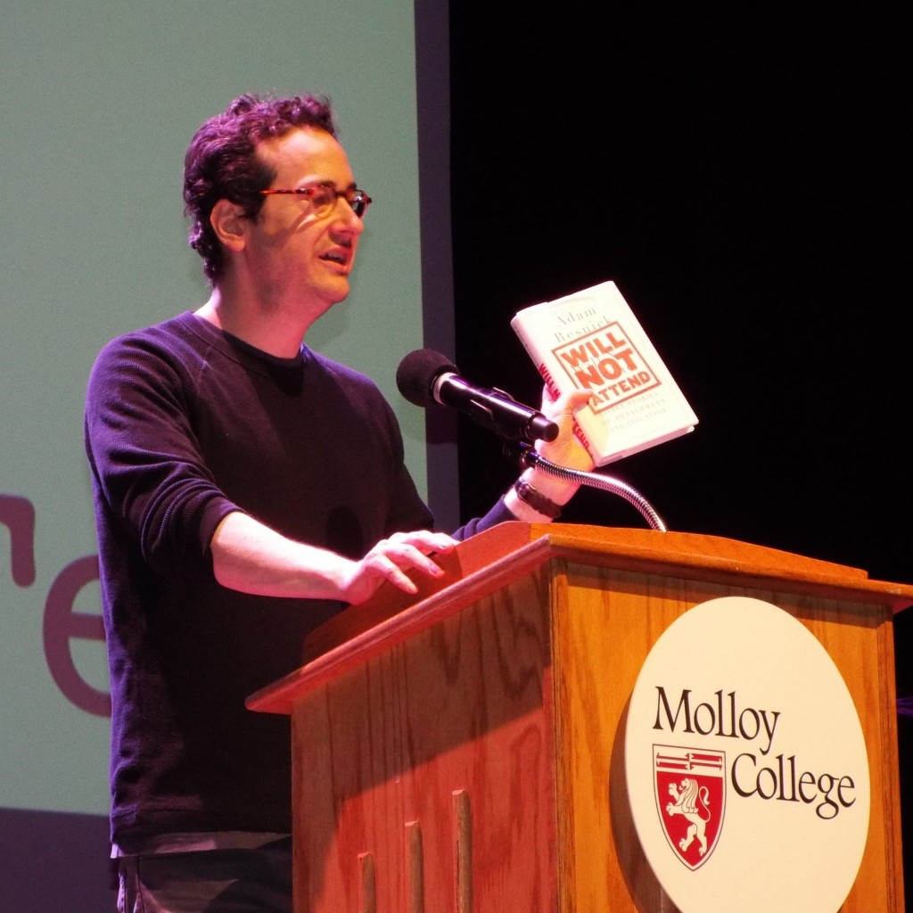 Adam Resnick read from his hilarious essay collection.