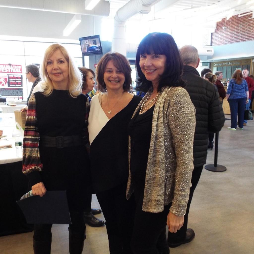 Featured authors Iyna Bort Caruso, Claudia Gryvatz Copquin and Paula Ganzi Licata.