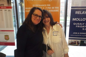 Kelly Carlin, who talked about growing up with her famous dad, with LitFest producer Claudia Copquin.