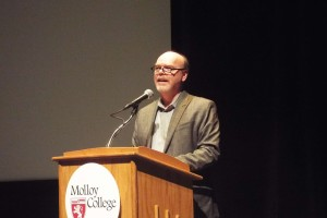 Long Island LitFest essay reader and host, Barry Dougherty.