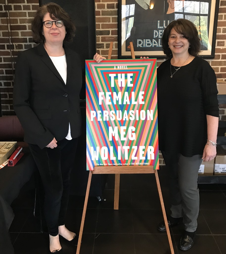 Meg Wolitzer and LitFest founder Claudia Copquin.