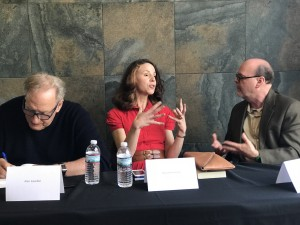Featured authors Alan Zweibel, Alyson Richman and emcee Barry Dougherty.